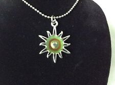 Unique Star Burst Shaped Mood Pendant with Necklace Chain Sun Jewelry