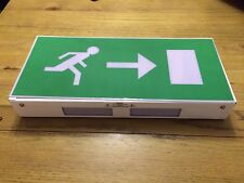 Gent Self Contained Box Emergency Fire Exit Light Non Maintained Right Sign