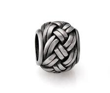 Stainless Steel Basket Weave Celtic Knot Spacer Bead Fit European Charm Bracelet