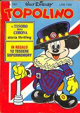 [843] TOPOLINO ed. Mondadori 1984 con tessere Supermemory n.  1507 stato Ottimo