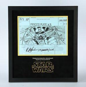 Original Star Wars Signed Production Storyboard—Close Up Tie Pilot CockPit (OS2)