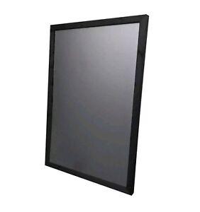 Large Blackboard  Chalkboard Wooden Framed Various Sizes. BLACK FRAMED