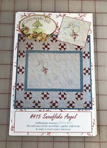 """""""Snowflake Angel"""" by Crabapple Hill, Embroidery Pattern, 27.5"""" X 27.5"""""""