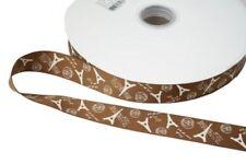 Printed Brown Ribbons & Ribboncraft