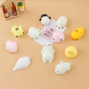 UK Seller 2PCs Squishy Mochi Animal Squeeze Healing Fun Kids Toy Kawaii Gift