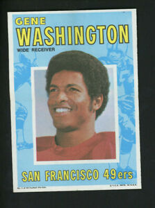 """1971 TOPPS FOOTBALL POSTER #1 GENE WASHINGTON 5"""" x 7"""" Excellent Condition!"""