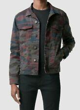 $648 J Brand Men's Gray Camo Stretch Button Trucker Jean Jacket Coat Size M