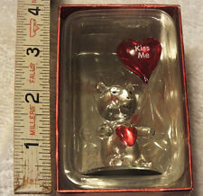 Bearloons Valentines Day Glass Bear with Kiss Me Balloon Nib Love