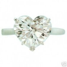 1 ct certified E VS natural heart shape solitaire engagement ring 18k white gold