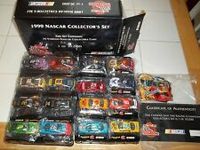 1999 Nascar collector's set of 16 cars w bases/cards NIB