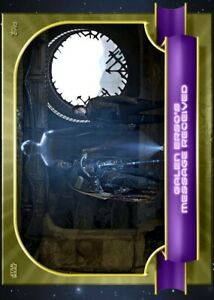 TOPPS STAR WARS CARD TRADER Moments of Triumph W2 Galen's Message Gold