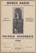 Z5062 Radio BOSCH mod. 49 Consolette - Pubblicità d'epoca - 1930 old advertising
