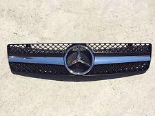 Black W129 Grille GRG-W129-9002G-SLN-BK, SL Class, Brand New, (Fits: Mercedes))