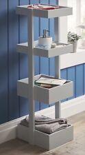 Modern minimalista grigio chiaro in legno 4 PIANI BAGNO Caddie SCAFFALI NUOVO