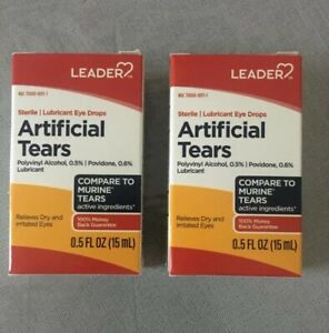 2 Artificial Tears Lubricant Eye Drops 15 ml (30ML Total) 2 boxes Free Shipping