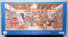 LITTLE SHOPPERS 636 PIECE JIGSAW PUZZLE BY GIBSON 68CM x 32CM ARTIST LES RAY