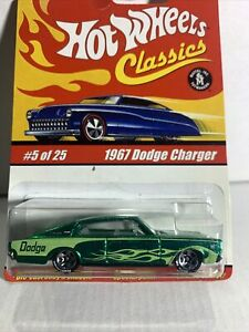 1967 Dodge Charger 2004 Hot Wheel Classics green Chrome finish series 1 #5 of 25