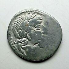 RARE GENS VIBIA  90 BC Ancient Authentic Roman republic denarius