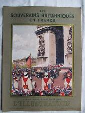 L'ILLUSTRATION HORS SERIE 1938 HORS SERIE LES SOUVERAINS BRITANIQUES EN FRANCE