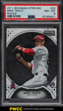 2011 Bowman Sterling Mike Trout ROOKIE RC #22 PSA 8 NM-MT (PWCC)