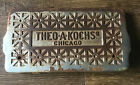 Antique Theo A Kochs Barber Shop Chair Foot Rest Free Ship