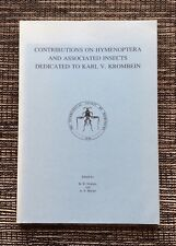 VERY RARE SIGNED 1996 Contributions on Hymenoptera and Insects, Karl Krombein