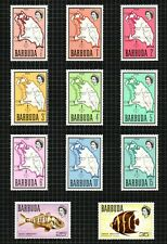 "Barbuda 1970-71 short ""Map"" set of 14 to $1 sg12/25 m/m on 2 pages."