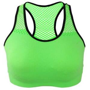 Womens Sports Padded Bra Gym Yoga Workout Stretch Crop Tank Vest Exercise Tops