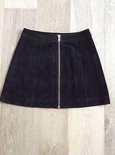 ladies black 100% genuine suede skirt size 10 BRAND NEW sample very good quality