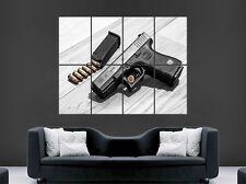 Pistola glog 32 Semi Automática Pistola balas cartel arma Arte Pared Grande