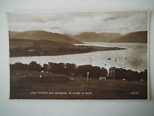 Loch Striven & Entrance to Kyles of Bute Old Postcard Photo Brown Series