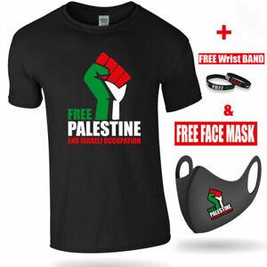 FREE PALESTINE TSHIRT Save Gaza Freedom End Israeli Occupation + FREE MASK&BAND