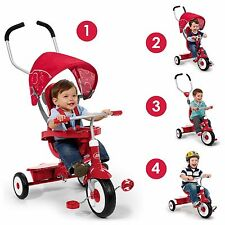 Radio Flyer Learn To Ride Tricycle Trike 4-in-1 Boy Girl Toddler Ride On Gift