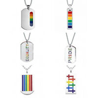 Premium Stainless Steel Dog Tag LGBT Lesbian Pride Pride Ball Chain Necklace