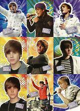 2010 Panini Justin Bieber 1st Print ~ 30-CARD STICKER INSERT SET