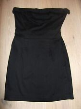 Black ASOS Strapless Dress With Bow Detail To Back - Size 6/8