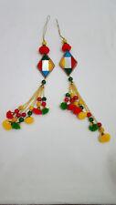 Pom pom, mirror & beads long Tassel Latkan - Bags, Sari Blouse, Choli, dupatta