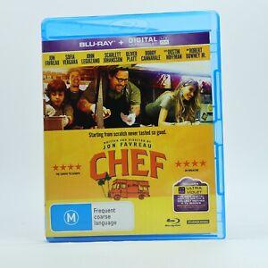 Chef Jon Favreau Blu-ray RB Good Condition Free Tracked Post AU