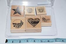 Stampin Up Stamps A LITTLE SOMETHIN' SU Mounted 6 stamps