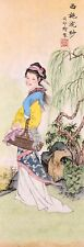 ORIGINAL ASIAN FINE ART CHINESE FAMOUS FIGURE WATERCOLOR PAINTING--Beauty Girl