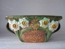 Beautiful Super Rare Antique Roseville Art Pottery Jonquil Bowl Perfect