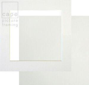 1 Single Square Picture Photo Mount with Backing Board, Choose Size and Colour