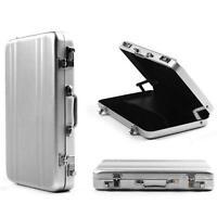 5 Colors Mini Aluminum Safe Suitcase Briefcase Business Card Holder Box Case S