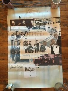 RARE Vintage - The Beatles Anthology 1 Original 1995 Promo Poster Unused