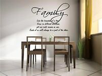 Family is Like the Branches of a Tree vinyl wall art decal saying sticker mural