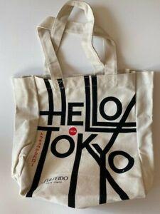 NEW SHISEIDO Hello Tokyo Canvas Tote Bag
