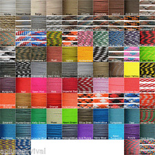 15 Color Lot of Paracord 100 Foot 550 lb 7 Strand for Camping Survival Bracelets