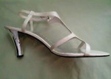 Victoria Spenser Shoes Off White Open Toe 3.5 Inch Heel