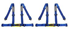 2 x Tanaka 4-point Buckle Sports Racing Harness Seat Belt (Blue)