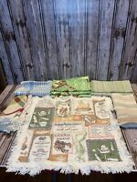 Vintage Lot Of 9 Various Table Napkins